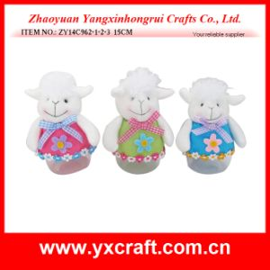 Easter Decoration (ZY14C962-1-2-3 15CM) Eco Craft Easter Sheep Bottle pictures & photos