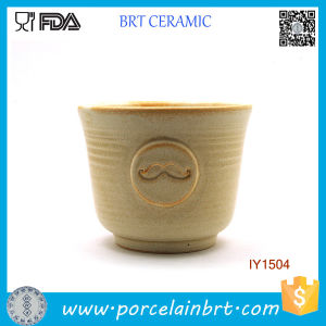 Wholesale Cute Mustache Pattern Ceramic Shaving Bowl pictures & photos