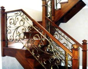 Economical Stairs Wrought Iron Railing pictures & photos