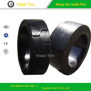 Press-on Solid Tyre (21X6X15, 21X8X15, 22X8X16, 22X12X16) pictures & photos
