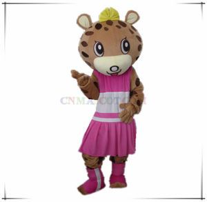 Custom Beautiful Male and Female Leopard Mascot Costume pictures & photos