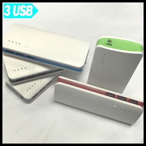 Universal Portable Mobile Power Bank 15000mAh with 3 USB Port pictures & photos