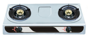 80mm Double Burner Stainless Steel Gas Stove