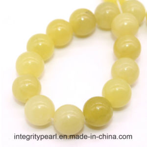 Hot-Selling New Arrival Natural Gemstone Loose Strand 4 6 8 10 12mm Natural Lemon Jade Stone Rough pictures & photos