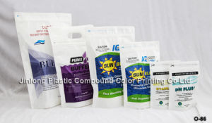 Zipper Stand up Chemical Packaging Bag with Handle Hole pictures & photos