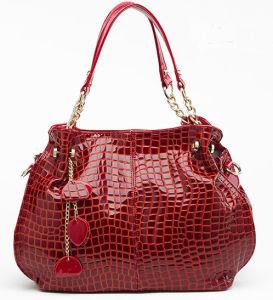 Guangzhou Fashion Designer PU Patent Leather Shoulder Bag Supplier (QP406) pictures & photos