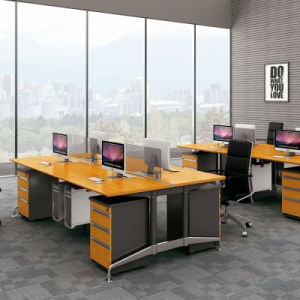 High End Solid Bamboo Grain Panel Executive Computer Table for Office Furniture pictures & photos