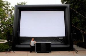 16: 9 Inflatable Projection Indoor Outdoor Movie Screen