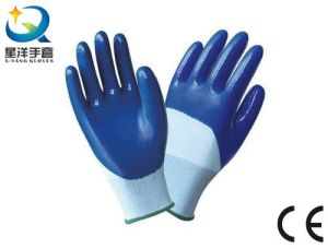 13G Polyester Shell with Nitrile 3/4 Coated Work Glove (N7012) pictures & photos
