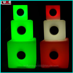 LED Illuminated Sound Sensitive Cube Bluetooth Design Glow in The Dark Bluetooth pictures & photos