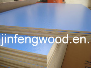 100% Poplar 1220*2440mm Melamine MDF Lake Blue Color Water Wave Effect pictures & photos
