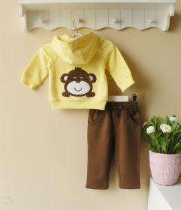 Baby Clothes 100% Cotton Jacket Pants Set (1108031)