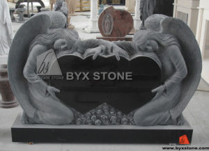 Granite Tombstone / Monument of Double Angel with Double Heart pictures & photos