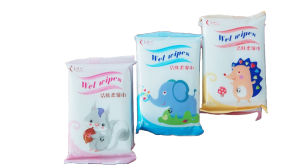 10 PCS Cartonn Bag Skin Cleaning and Care Wet Wipes pictures & photos