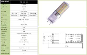 Corn Shape 12W G12 LED Bulb with 1400-1500lm with Aluminum Radiator and 2800-6500k pictures & photos