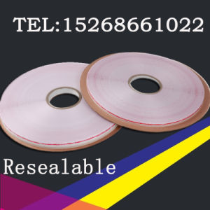3mm Resealable Bag Sealing Tape in PE Release Liner pictures & photos