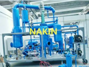 Car Used Motor Oil Distillation Plant /Clean Yellow Base Oil Recycling Machine pictures & photos