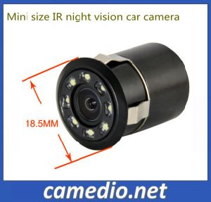 Hot Selling! 18 mm Punch Invisible Rear View 8 LED Car Parking Camera pictures & photos