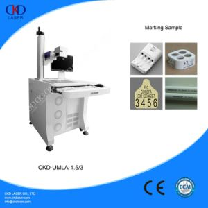 Green Laser Marking Machine Marking on Plastic pictures & photos