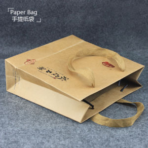 Fashion Clothes Customized Logo Kraft Paper Bag pictures & photos