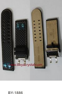Special Designed Dark Leather Watch Strap