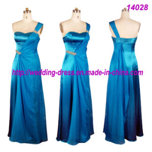 Romantic Full Length Bridesmaid Dresses with One Shoulder pictures & photos