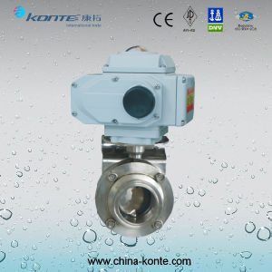 Electric Sanitary Butterfly Valve Ss316L pictures & photos