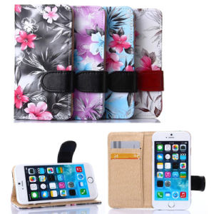 2015 Fashion Flower Leather Case for Mobile Phone with Beautiful Design Package