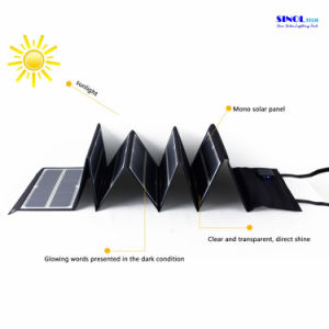 80watt Portable Folding Solar Panel Charger with Fluorescence for Laptop, Phone, 18V Laptops and 12V Car Battery Solar Charger (FSC-80L) pictures & photos