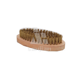 The Newest Japan Style Brass Wire Brush with Wooden Handle, Brush Steel Wire Brush Cleaning Brush (SJIE3090) pictures & photos