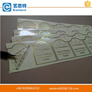 High Quality Transparent Gold Foil Printing Label