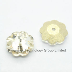 Sew on Rhinestone Flower Shapes 10X10mm Crystal Ab pictures & photos