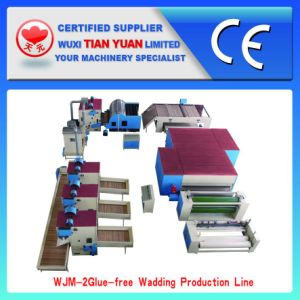 Nonwoven Glue Free Wadding Production Line pictures & photos
