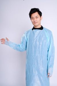 Disposable Hospital Gowns with Long Sleeve CPE Disposable Surgical Gown pictures & photos