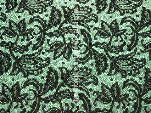 Polyester Spandex Lace Printed Ponte-Roma Interlock Knitted Fabric pictures & photos