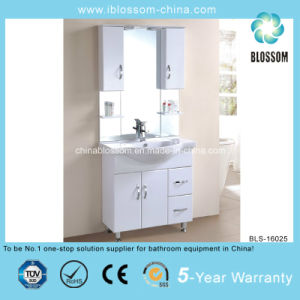 White Color Freestanding Modern Bathroom Cabinet (BLS-16025) pictures & photos