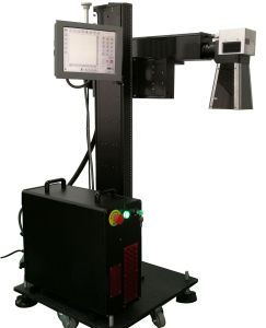 30W Ylpf-30A Fiber Laser Marking Machine for PP/PVC/PE/HDPE Plastic Pipe pictures & photos
