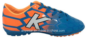 Kid′s Soccer Turf Shoes with Rubber Outsole Football Footwear (415-9464) pictures & photos