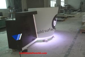 Cup Shape Logo LED Coffee Shop Counter Cash Bar Counter pictures & photos