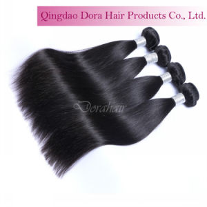 Top Quality Peruvian Human Hair Weft Natural Black Unprocessed Virgin Hair pictures & photos