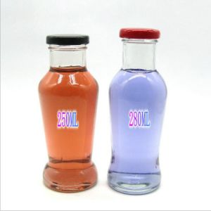 250ml Fruit Juice Glass Bottle with Metal Lid pictures & photos