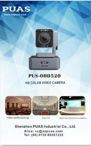 Fov90 Wide Viewing Angle HD PTZ Camera for Meeting with Ce, FC, ISO9001 Certificate pictures & photos