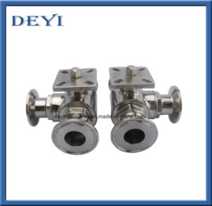 Stainless Steel Male Thread Three Way Ball Valve pictures & photos