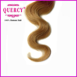 Factory Price Three Tone Omber Color 100 Human Hairhair Lace Closures pictures & photos