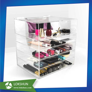 Acrylic Makeup Organizer with Drawers, Clear Acrylic Cosmetic Display pictures & photos