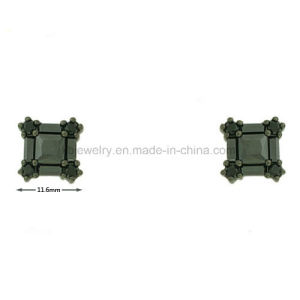 Wholesale Brass Jewelry Plated Square Ear Stud (KE3241) pictures & photos