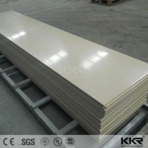 Popular Cream 20mm Solid Surface for Building Material pictures & photos