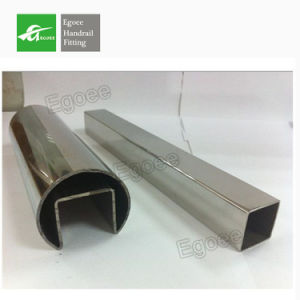 Mirror Polished Stainless Steel Tube with Slot for Glass Balustrade pictures & photos