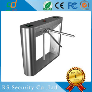 304 Stainless Steel Entrance Exit Control Waist Height Turnstile