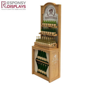 POS Quality Wooden Beer Stands Wine Retail Display Racks pictures & photos